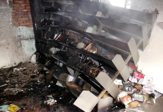 Após incêndio, Nova Petrópolis lança campanha para doação de livros Corpo de Bombeiros Voluntários/Divulgação