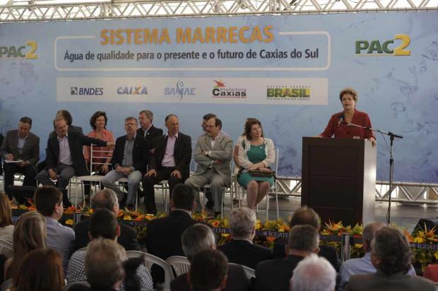 'Manteremos nossa parceria nesta cidade', afirma Dilma em inauguração do Sistema Marrecas, em Caxias Porthus Junior, Agência RBS/