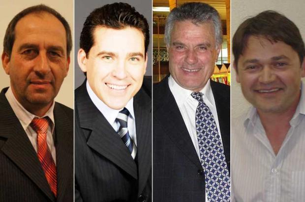 Quatro candidatos disputam eleição suplementar para prefeito em Vacaria Montagem sobre fotos de Arquivo pessoal, divulgaçao e Morgana Festugato, divulgaçãoIotti/