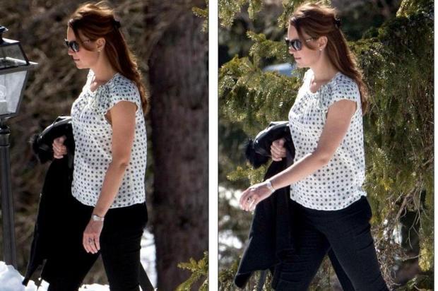 Grávida, Kate Middleton é vista nos Alpes Suíços Daily Mail/Reprodução