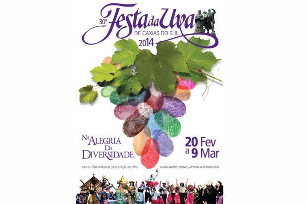 Cartaz da Festa da Uva 2014, de Caxias, é lançado Reprodução/