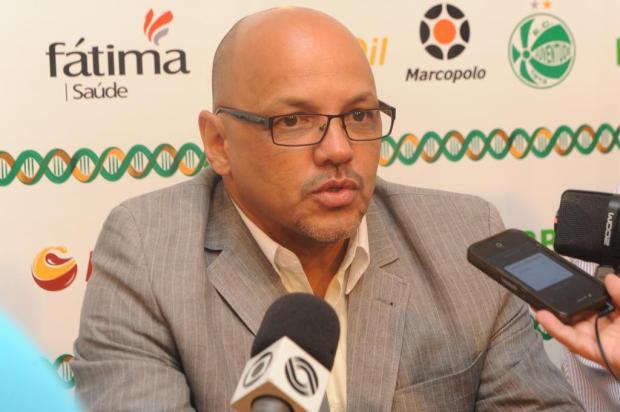 """Geraldo Delamore é apresentado como o novo técnico do Juventude: """"É um grande desafio, mas extremamente prazeroso"""" Roni Rigon/Agencia RBS"""