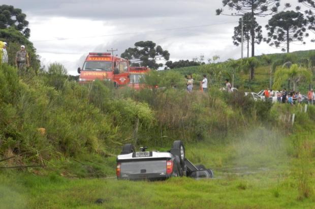 Três pessoas da mesma família morrem em acidente na ERS-122, em Ipê Polícia Civil/Divulgação