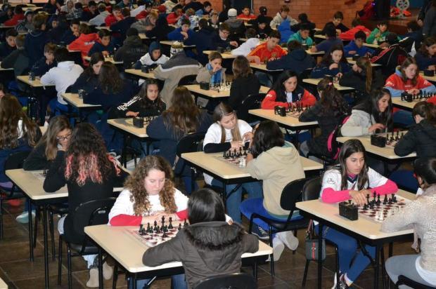 Xadrez foi a competição dos Jogos Escolares de Caxias nesta quarta-feira  Daniel Rodrigues/Divulgação