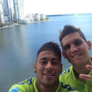Neymar curte folga com goleiro Rafael em Miami Reprodução,Instagram/Reprodução
