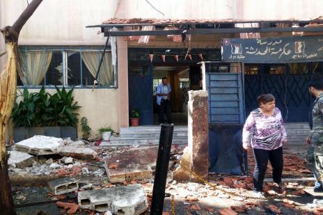 Homem-bomba mata pelo menos 41 crianças em escola da Síria (AFP PHOTO / HO/SANA)