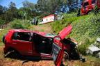 Acidente deixa três pessoas feridas na Vila Maestra, em Caxias do Sul Diogo Sallaberry/Agência RBS