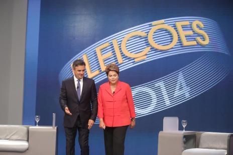 Aécio e Dilma trocam farpas em último debate antes do 2º turno (Ricardo Duarte/Agencia RBS)