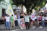 Militantes comemoram a vitória de José Ivo Sartori (PMDB) para o governo do RS