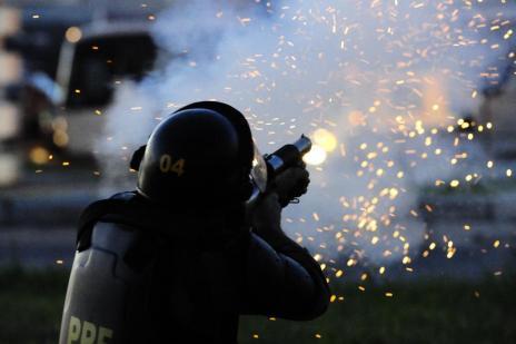 Como foi o conflito entre PRF, Força Nacional, caminhoneiros e moradores em Camaquã (Ronaldo Bernardi/Agencia RBS)