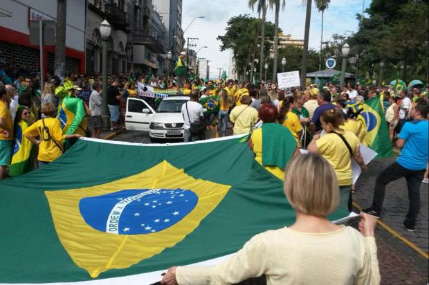 Acompanhe: protesto em Caxias do Sul ocorre na tarde deste domingo Felipe Nyland/Agência RBS/