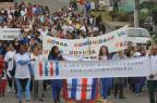 Estudantes de três escolas da Zona Norte de Caxias do Sul caminham pela paz (Roni Rigon/Agencia RBS)