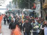 Sindicalista fazem passeata no centro de Caxias para protestar contra a contra PL 4330