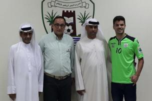 Ex-Juventude, Lajeadense e Esportivo, meia Paulo Josué comemora chance nos Emirados Árabes Unidos Arquivo pessoal/Divulgação