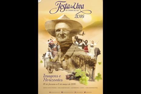 Cartaz da Festa da Uva homenageia o colono, a alegria e o trabalho do caxiense (reprodução/)