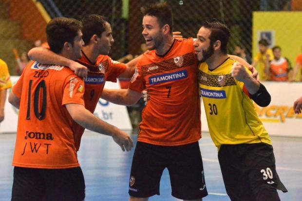 ACBF vence o Corinthians em Carlos Barbosa, segue líder da Liga Nacional de Futsal e está há 14 jogos invicto Ulisses Castro/ACBF,Divulgação