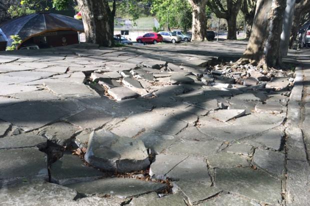 Prefeitura de Caxias recebe cerca de 100 notificações por mês por problemas em calçadas  André Fiedler  / Gaúcha Serra/