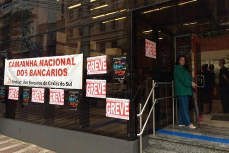 No primeiro dia de greve dos bancários, 24 agências não abrem em Caxias (Juliana Bevilaqua  / Gaúcha Serra/)
