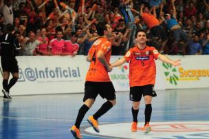 Com gol de Canabarro, ACBF larga na frente na semifinal do Estadual Série Ouro de Futsal Porthus Junior/Agencia RBS