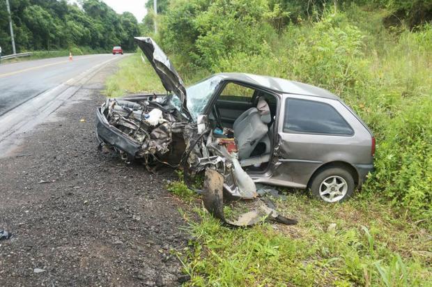 Acidente deixa homem ferido na ERS-446, em São Vendelino Bombeiros Voluntários São Vendelino / divulgação/