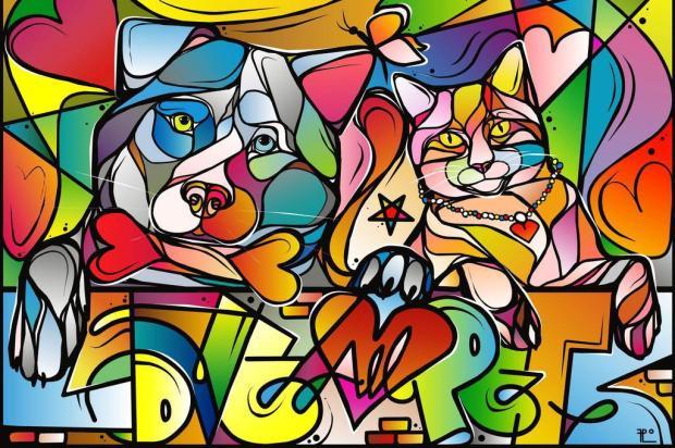 3por4: Arte multicolorida será vendida para grafitar muro da Soama, em Caxias Fábio Panone Lopes/Divulgação