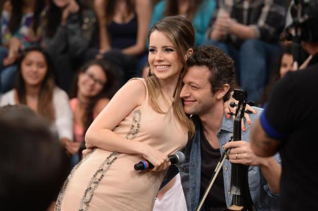 Sandy participa do show da Família Lima nesta quarta-feira, em Caxias Zé Paulo Cardeal/TV Globo/Divulgação