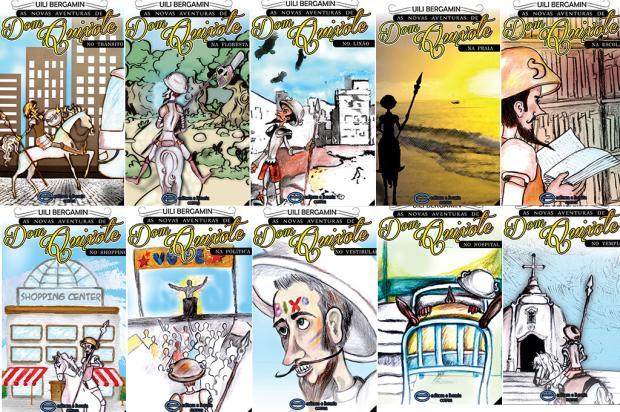 Série de 10 livros infanto-juvenis traz Dom Quixote para os tempos atuais Reprodução/