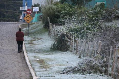 Serra Gaúcha amanhece com geada e sensação térmica de -6ºC (Mariane Alano Homem/Divulgação)