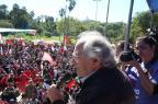 """""""Não queremos mais golpe de estado neste continente"""", diz Nobel da Paz Adolfo Esquivel na Redenção Tadeu Vilani/Agencia RBS"""