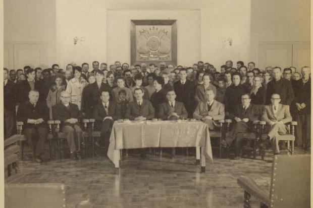 O jubileu de prata de Enio Arioli em 1968 Lydio Provin/acervo Arquivo Histórico Municipal João Spadari Adami,divulgação