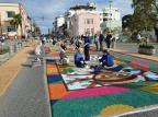 Montagem de tapetes de serragem em Flores da Cunha começa na segunda Prefeitura de Flores da Cunha / Divulgação/Divulgação