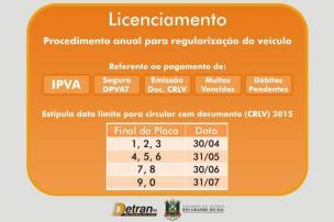 Fazenda garante que multas se restringem a atraso no licenciamento, e não no IPVA (Reprodução/www.detran.rs.gov.br)