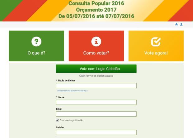 Consulta popular tem votação abaixo do esperado na Serra Governo do Estado/Reprodução