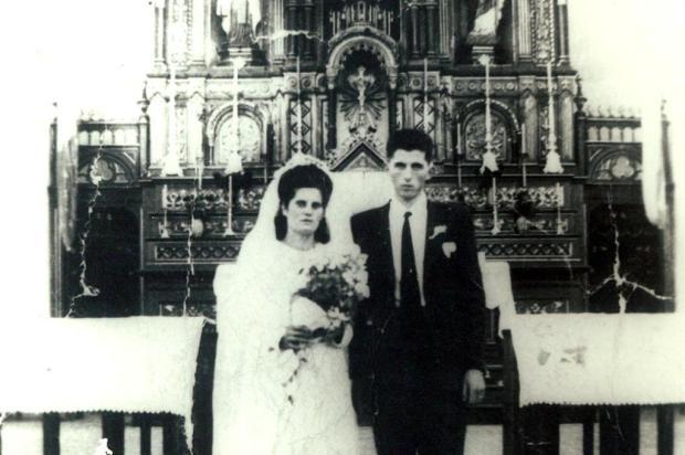 Casamento de João Zanol em 1948 Acervo de família/divulgação