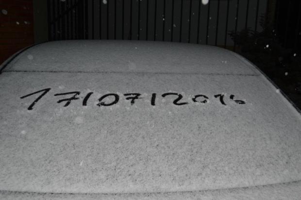 Pelo menos três municípios da Serra registraram neve na madrugada de domingo Bolívar Medeiros/divulgação assessoria de imprensa da prefeitura