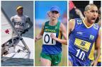 COB inova e votação popular irá escolher porta-bandeira brasileiro nos Jogos Rio 2016 Montagem de fotos / AFP e CBV/AFP e CBV