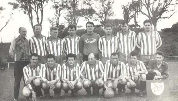 Veteranos do Esporte Clube Floriano em 1972 Acervo pessoal de Alvis Fiedler/divulgação