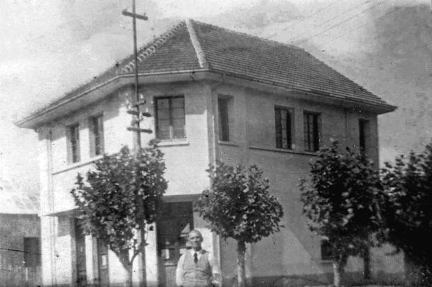 Armazém de Antonio Boz nos anos 1940 Acervo pessoal de Adelmar Boz/Divulgação