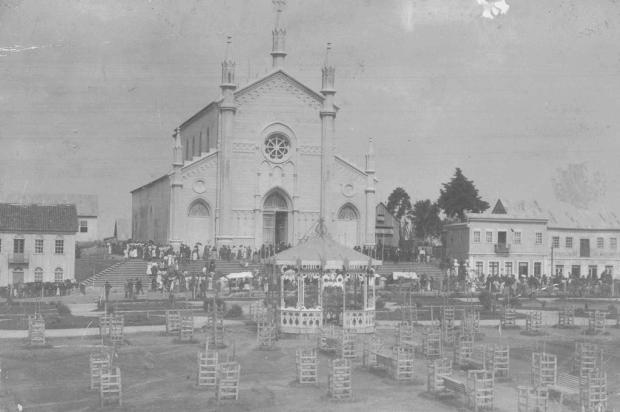 Um coreto no coração da Praça Dante Alighieri Domingos Mancuso/Acervo Arquivo Histórico Municipal João Spadari Adami,divulgação