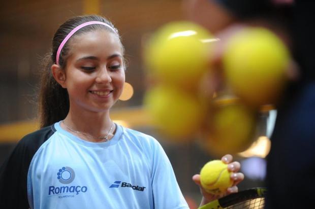 Amanda de Oliveira e Gustavo Tedesco representam o Brasil no Sul-Americano Sub-12 de tênis Diogo Sallaberry/Agencia RBS