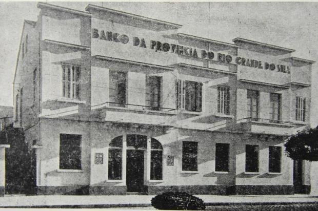 Banco da Província do Rio Grande do Sul na Avenida Júlio Reprodução/Agencia RBS