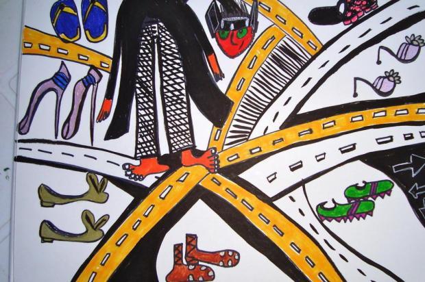 Tríssia Ordovás Sartori: sobre ordem, sapatos e percursos Arte de Vivi Pasqual/reprodução