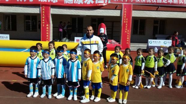 Técnico caxiense vai ensinar futebol em uma escola do norte da China Arquivo pessoal/