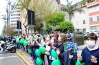 Alunos do São José fazem ato pela doação de órgãos em Caxias do Sul Roni Rigon/Agencia RBS