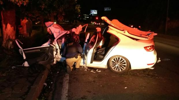 Jovens ficam feridos em acidente na BR-116 em Caxias PRF / divulgação/divulgação