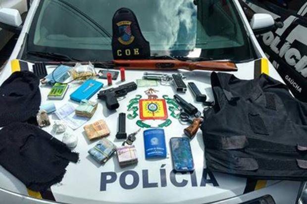 Brigada prende casal apontado como líder do tráfico no Beltrão de Queiróz, em Caxias Brigada Militar / Divulgação/Divulgação
