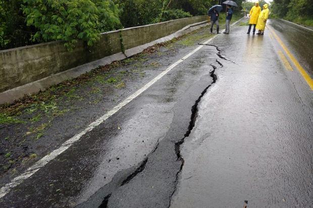 BR-116 segue bloqueada entre Caxias e Nova Petrópolis, na Serra PRF / Divulgação/Divulgação
