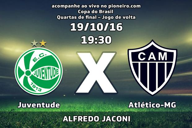 Acompanhe o minuto a minuto de Juventude x Atlético-MG, no jogo de volta das quartas de final Arte Guilherme Ferrari / Agência RBS/Agência RBS