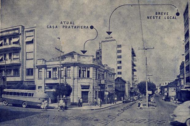 Casa Prataviera, um ícone do Centro Studio Geremia/Acervo Arquivo Histórico Municipal João Spadari Adami,divulgação