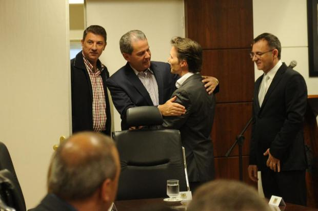 Alceu Barbosa Velho e Daniel Guerra iniciam transição de governo em Caxias do Sul Diogo Sallaberry/Agencia RBS